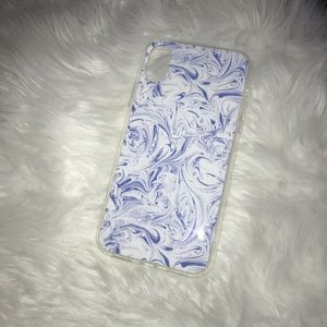 Accessories - BOGO iPhone X case clear with Blue / White marble